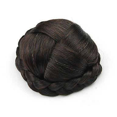 verworrene lockige braun europa kleine menschliches Haar capless Perücken Chignons 2/33