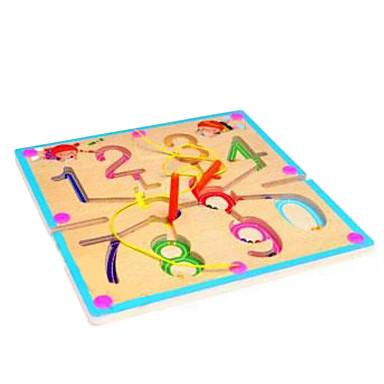 tre sirkulær bane magnetisk børste håndtering labyrint --0-9 labyrint