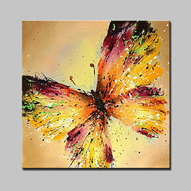 Lager pintado à mão moderno pintura a óleo de borboleta em tela de parede imagem de arte para casa quadro branco pronto para pendurar