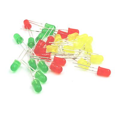 5mm LED-Licht-emittierende Dioden-Set - rot + gelb + grün (30pcs)