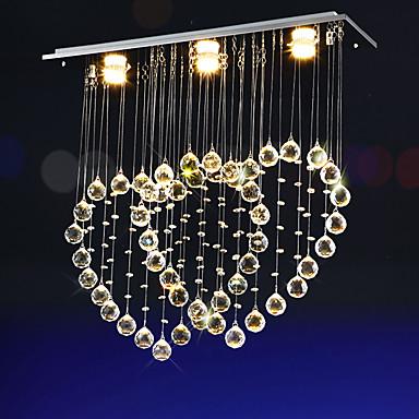 Led 4 Watt Modern/kortárs Kristály / LED Galvanizált Fém Csillárok Nappali szoba / Hálószoba / Étkező / Konyha