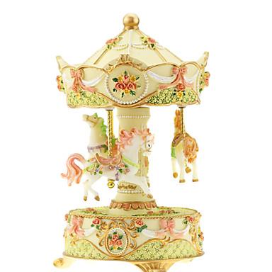 Spieluhr Spielzeuge Niedlich Spaß Pferd Karusell Frohe Runde gehen Klassisch Stücke Kinder Geschenk