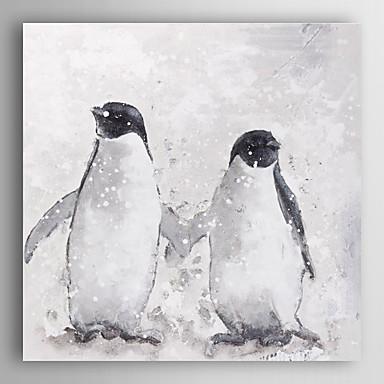 kézzel festett olajfestmény állati jó barát feszített keret 7 fal arts®