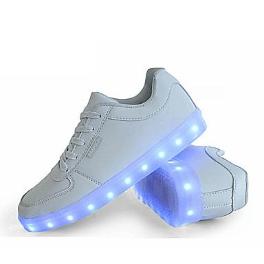 גברים נעליים סינטתי אביב קיץ סתיו חורף נוחות נעלי ספורט שרוכים עבור אתלטי קזו'אל לבן שחור