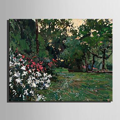 Håndmalte Landskap Moderne / Europeisk Stil,Et Panel Hang malte oljemaleri