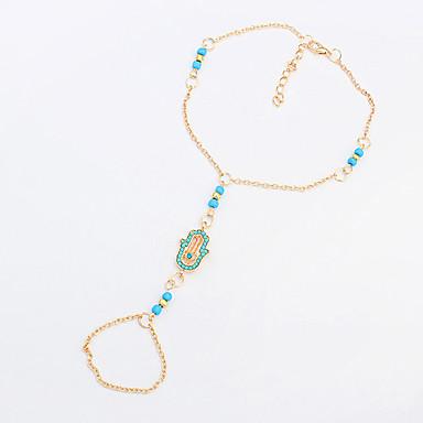 בגדי ריקוד נשים תכשיט לקרסול / צמידים שרף סגסוגת אופנתי ארופאי תכשיט לקרסול תכשיטים עבור יומי קזו'אל