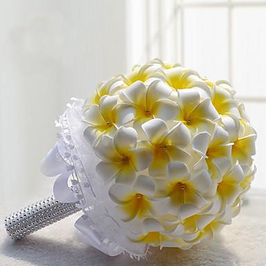 Bouquets de Noiva Buquês Casamento / Festa / Noite Poliéster / Espuma / Cetim 11.8