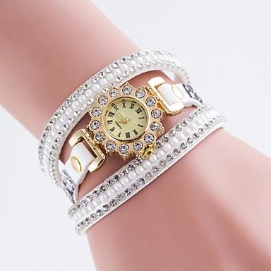 בגדי ריקוד נשים קווארץ יהלוםSimulated שעון שעוני אופנה שעונים יום יומיים PU להקה קסם צבעוני