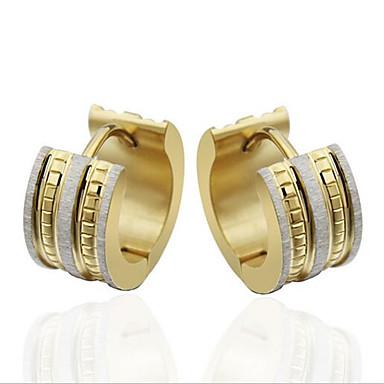 נשים אופנתי פלדת טיטניום ציפוי זהב Circle Shape תכשיטים עבור Party יומי קזו'אל