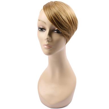 Dorado Negro Marrón Blonde Vino Tinto Corte Recto Flequillo Franja 0.03kg Pelo sintético Pedazo de cabello La extensión del pelo Corte