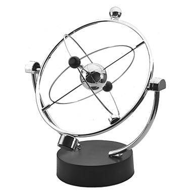 kinetic orbital newton cradle balance ball office desk toys metalic