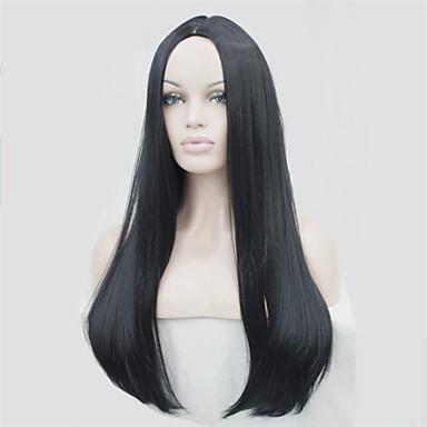 Damskie Peruki syntetyczne Długo Prosta Czarny Kasztanowy brąz Blonde Halloween Wig Karnawałowa Wig Peruka kostiumowa