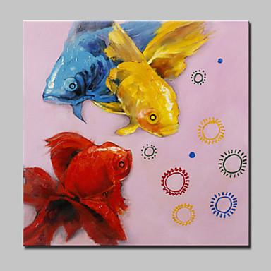 Lager håndmalt moderne gullfisk olje maleri på lerret vegg kunst bilde for hjemmet whit ramme klar til å henge