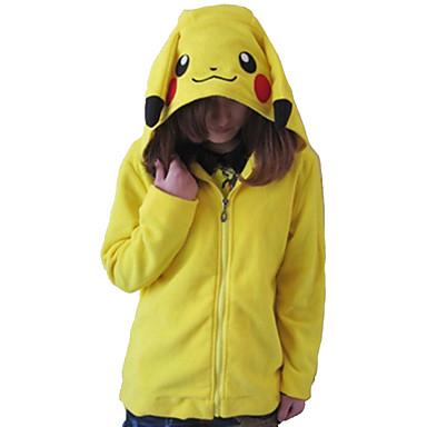 Kigurumi Pijama Pika Pika Onesie Pijama Kostüm Polar Kumaş Sarı Cosplay İçin Hayvan Sleepwear Karikatür cadılar bayramı Festival / Tatil