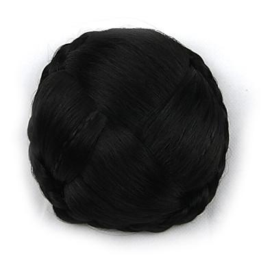 verworrene lockige schwarze europa Braut menschliches Haar capless Perücken Chignons g660232-l 2
