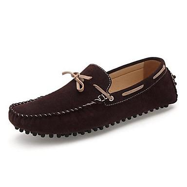 בגדי ריקוד גברים נעליים סוויד אביב סתיו נוחות נעלי סירה ל חתונה קזו'אל משרד קריירה מסיבה וערב כחול אפור חום