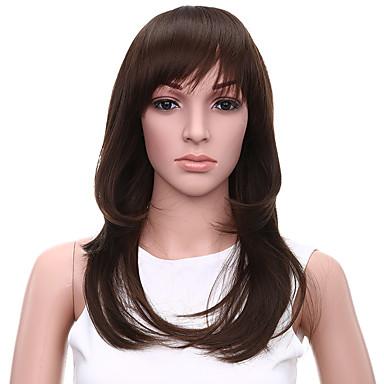 Synthetische Perücken Natürlich gewellt Synthetische Haare Perücke Damen Kappenlos