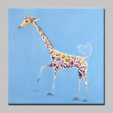 grandes pintados à mão bela pintura a óleo sobre tela girafa arte da parede dos animais moderno para a decoração da casa com quadro