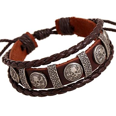 Herrn Damen Strang-Armbänder Lederarmbänder Leder Aleación Braun Schmuck Für Hochzeit Party Alltag Normal Sport 1 Stück