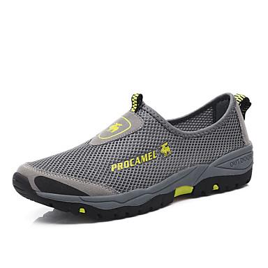 Homme Chaussures Tulle Eté Confort Mocassins et Chaussons+D6148 pour Décontracté Noir Gris Vert