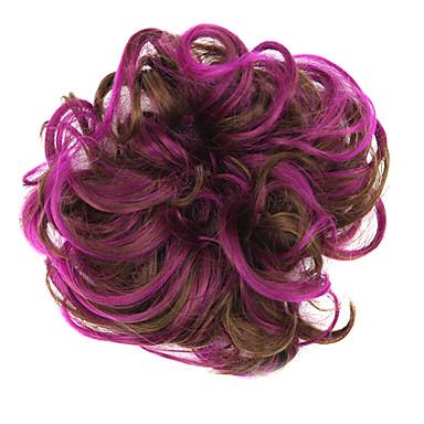 Syntetiske parykker / Hårknuter Klassisk Lagvis frisyre Syntetisk hår updo Brun Parykk Dame Kort Kort / Cosplay-parykk Daglig / Krøllet