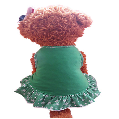 Pas Haljine Odjeća za psa Ležerno/za svaki dan Jednobojni Zelen Yellow and Green Kostim Za kućne ljubimce