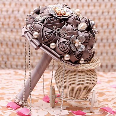 פרחי חתונה זרים חתונה שזירה אבן נוצצת מתכת מֶשִׁי 9.06