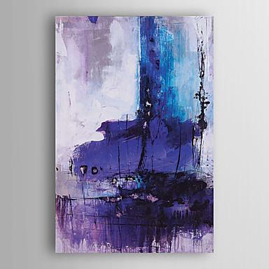 pintura al óleo pintada a mano de color púrpura abstracta con el marco estirado Arts® 7 de pared