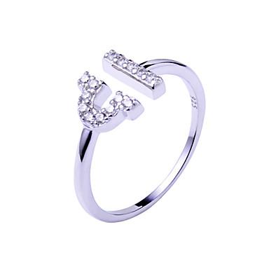 Gyűrűk Állítható Esküvő / Parti / Napi / Hétköznapi Ékszerek Ezüst Páros gyűrűk 1db,Állítható Ezüst