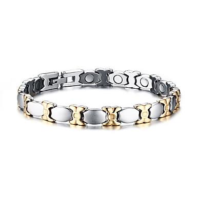 Armbänder Ketten- & Glieder-Armbänder Edelstahl Magnettherapie Alltag / Normal Schmuck Geschenk Silber,1 Stück