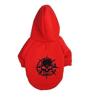 Chat Chien Tee-shirt Pulls à capuche Vêtements pour Chien Crânes Noir Rouge Vert Coton Costume Pour les animaux domestiques Homme Femme