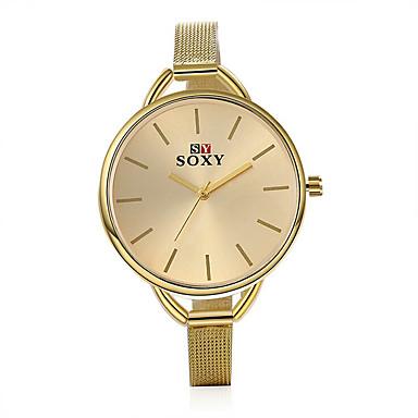 Mulheres Relógio de Moda Quartzo Impermeável Lega Banda Dourada Branco Dourado