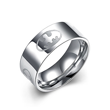 Női Rozsdamentes acél Gyűrű - Circle Shape Karika Szürke Gyűrű Kompatibilitás Parti / Napi / Hétköznapi