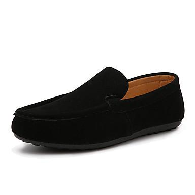 Alkalmi Férfi cipő Gyapjú Mokaszinek Fekete / Kék / Szürke / Narancssárga
