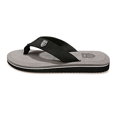 Homens sapatos Courino Verão Conforto Chinelos e flip-flops para Casual Cinzento Amarelo Marron