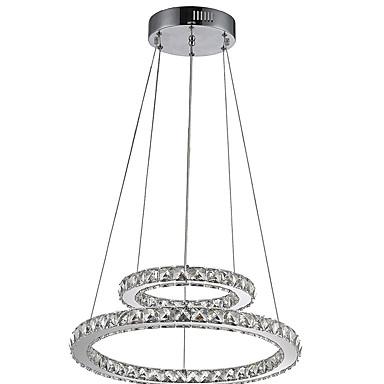 נברשות Ambient Light - קריסטל, LED, 110-120V / 220-240V, לבן חם / לבן קר, נורה כלולה / 10-15㎡ / משולב לד