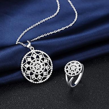Halskette / Ring Künstliche Perle Kreisform Silber Halsketten Ringe Für Hochzeit Party Alltag Normal 2 Stück Hochzeitsgeschenke