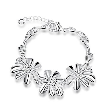 Damen Ketten- & Glieder-Armbänder Zirkon versilbert Silber Schmuck Für Hochzeit Party Alltag Normal 1 Stück