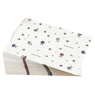 floral postkort konvolutt (10 stk)