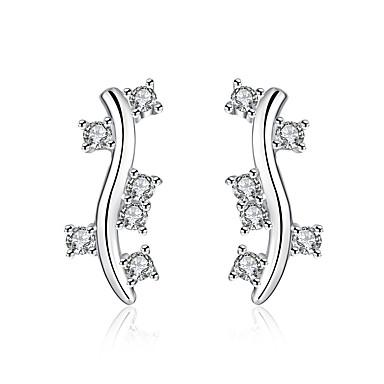 Boucles d'oreilles Zircon Plaqué argent Mode Argent Bijoux Mariage Soirée Quotidien Décontracté 1 paire