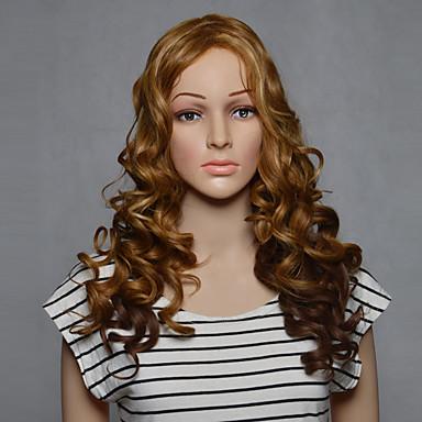 Cheveux Synthétiques Perruques Ondulé Sans bonnet Long Blond