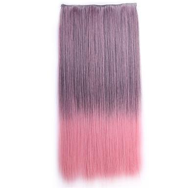 ombre apliques de cabelo sintetico perruque gerade natürliche Haar Toupet synthetischen Haarclip in den Haarverlängerungen