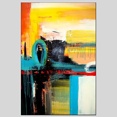 Pintados à mão Abstracto Modern / Clássico / Tradicional / Realismo / Mediterrêneo / Pastoril / Estilo Europeu,1 PainelHang-painted