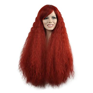 Damen Synthetische Perücken Lang Natürlich gewellt Rot Kostümperücke