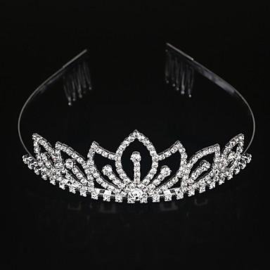 abordables Bijoux de Cheveux-Alliage Diadèmes / Coiffure avec Fleur 1pc Mariage / Occasion spéciale Casque