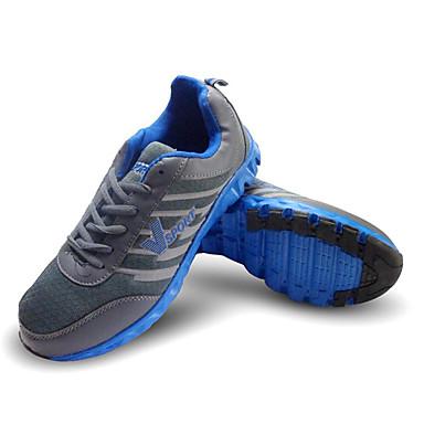בגדי ריקוד גברים נעלי ריצה / נעלי ספורט / נעלי יומיום עור מלאכותי ריצה נגד החלקה, Anti-Shake, ריפוד רשת נושמת אפור כהה / אפור בהיר / אדום / קל במיוחד (UL) / עמיד בפני שחיקה