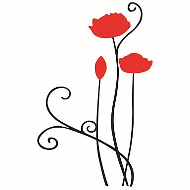 Decalque Autocolantes de Parede Decorativos - Autocolantes de Aviões para Parede Paisagem Vida Imóvel Romance Moda Formas Floral Feriado