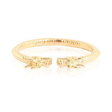 Bracelet Bracelets Rigides Alliage / Cuivre / Plaqué or Mariage / Soirée / Quotidien / Décontracté Bijoux Cadeau Doré,1pc
