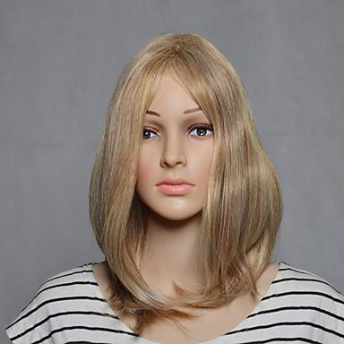 Femme Perruque Synthétique Court Droite Blonde Perruque Déguisement