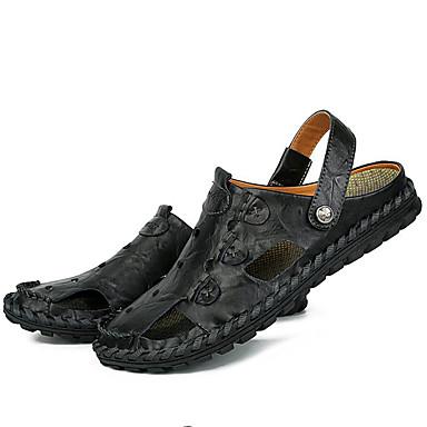 Négociation——Homme Chaussures Cuir Cuir Cuir Nappa Printemps / Eté / Automne Confort Talon Plat Noir / Marron 3b6a60